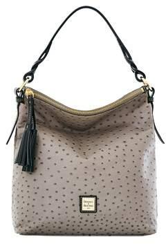 Dooney & Bourke Ostrich Small Sloan Bag. - GREY - STYLE