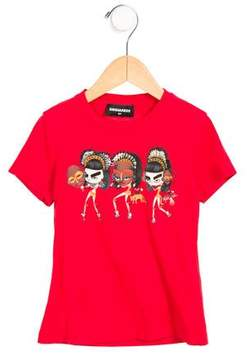 DSQUARED2 Girls' Short Sleeve Graphic Top