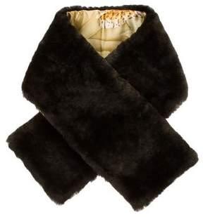 Salvatore Ferragamo Fur-Trimmed Stole