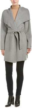 T Tahari Ella Wool-Blend Wrap Coat