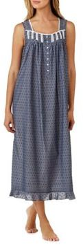 Eileen West Geometric Print Cotton Dress
