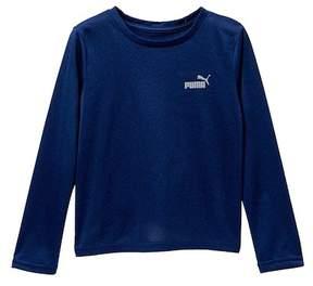 Puma Long Sleeve Poly Tee (Little Boys)
