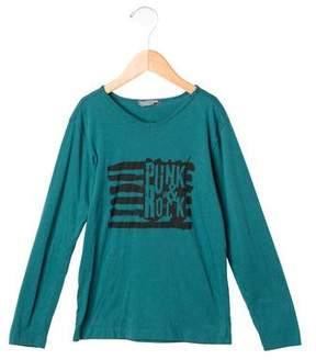 Bonpoint Boys' Graphic Print Long Sleeve Shirt