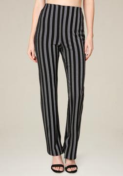 Bebe Striped Skinny Pants