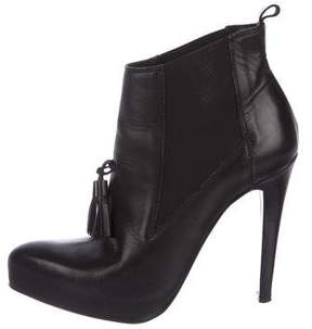 AllSaints Leather Tassel Booties