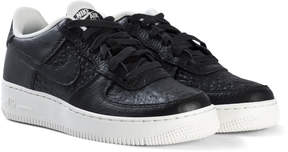 Nike Black and White Force 1 Shoes