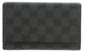 Gucci GG Canvas Flap Wallet - GREEN - STYLE