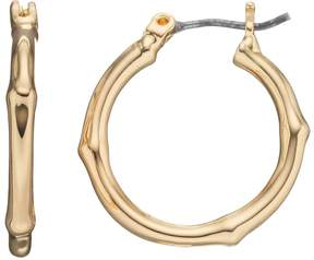 Dana Buchman Bamboo Hoop Earrings