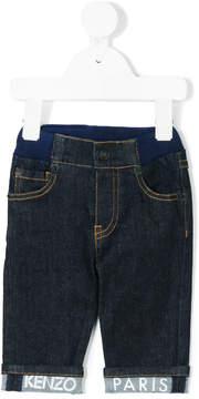 Kenzo logo cuff denim jeans
