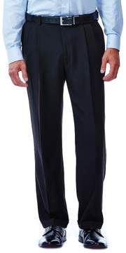 Haggar Big & Tall eCLoTM Stria No-Iron Classic-Fit Comfort Waist Pleated Dress Pants