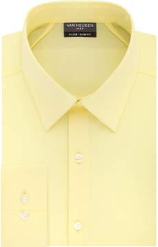 Van Heusen Vh Flex 3 Slim 4 Way Stretch Long Sleeve Twill Dress Shirt - Fitted