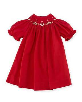 Luli & Me Bishop Dress, Red, Size 3-24 Months