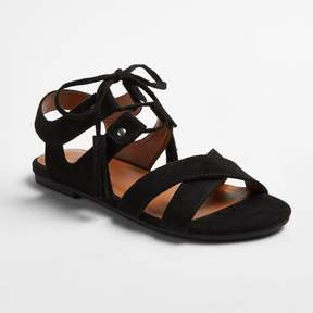 Stevies Girls' #ATHENIA Tassal Ghillie Sandals - Black 4