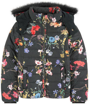 Derhy Kids Printed padded jacket with a fleece lining