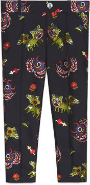 Children's monsters jacquard taffeta pant