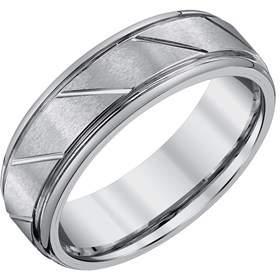 Armani Exchange Jewelry Mens 7mm Tungsten Wedding Band.