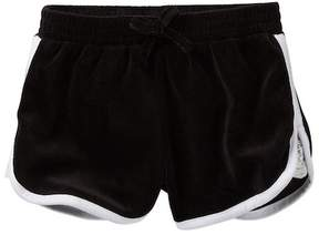 Juicy Couture Black Lace Inset Velour Shorts (Big Girls)