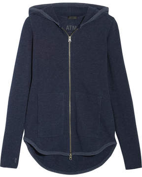 ATM Anthony Thomas Melillo French Cotton-blend Terry Hooded Top - Navy