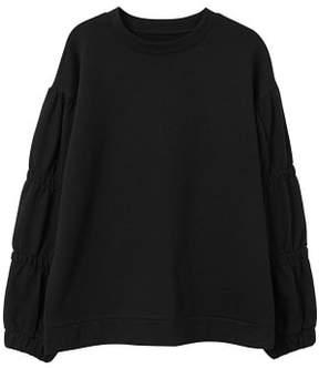 MANGO Ruched sleeve sweatshirt