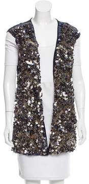 Catherine Malandrino Sequined Open Front Vest w/ Tags
