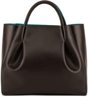 Alexandra de Curtis - Maxi Ruched Tote Brown