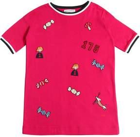 Sonia Rykiel Cotton Jersey Dress W/ Patches