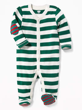 Old Navy Striped Thermal-Knit Footed One-Piece for Baby