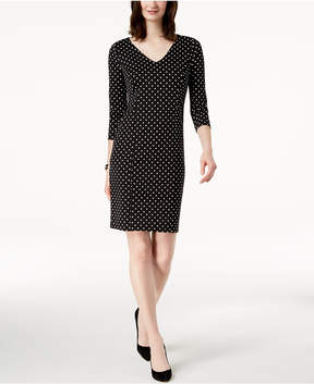 Charter Club Polka-Dot-Print Dress, Created for Macy's