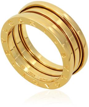 Bvlgari B.Zero1 18K Yellow Gold 3-Band Ring Size 9