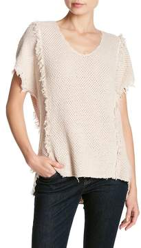 Velvet by Graham & Spencer Nadene Fringe Knit Shirt