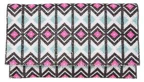 Nina Geometric Beaded Clutch
