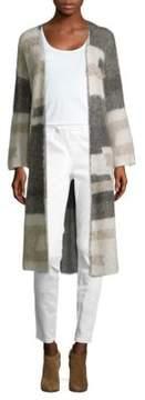 Eileen Fisher Colorblocked Long Open Cardigan