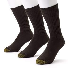 Gold Toe GOLDTOE Men's GOLDTOE 3-pk. Cotton Fluffies Crew Socks