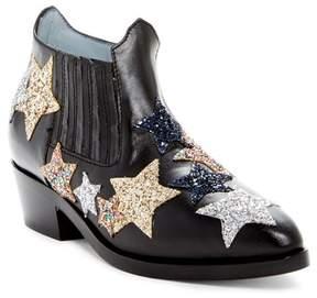 Chiara Ferragni Embroidered Star Leather Boot