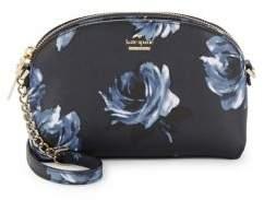 Kate Spade Floral Leather Shoulder Bag - RICH NAVY - STYLE