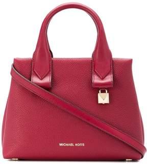 MICHAEL Michael Kors Rollins Small Leather Satchel Bag