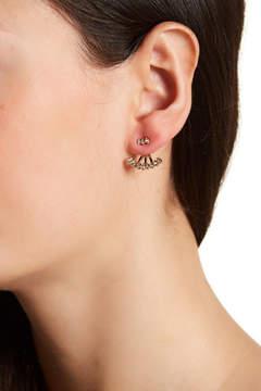 BaubleBar Gracie Bezel Set Crystal Jacket Earrings