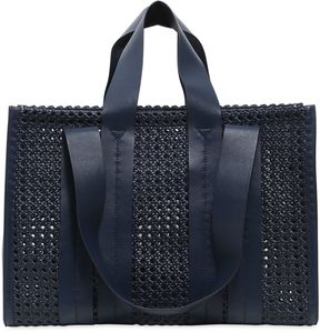 Large Costanza Woven Faux Leather Bag