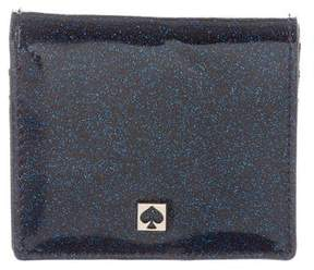 Kate Spade Glitter Patent Leather Wallet w/ Tags - BLUE - STYLE
