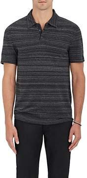 John Varvatos Men's Mélange Striped Cotton Polo Shirt