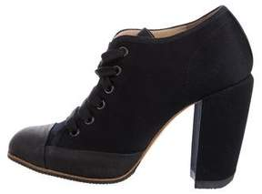 Dries Van Noten Cap-Toe Lace-Up Booties w/ Tags