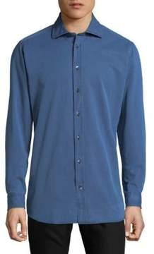 Luciano Barbera Classic Cotton Button-Down Shirt