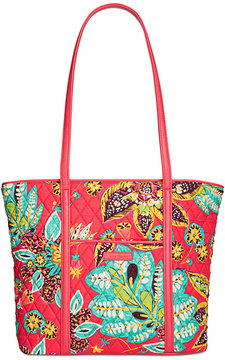 Vera Bradley Small Trimmed Vera Tote - RUMBA WITH RED - STYLE