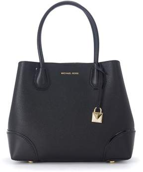 Michael Kors Mercer Gallery Medium Black Leather Shoulder Bag - NERO - STYLE