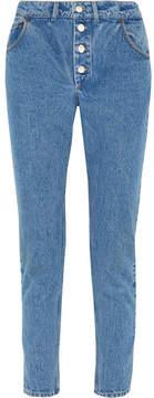 Balenciaga High-rise Straight-leg Jeans - Mid denim
