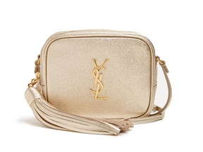 Saint Laurent Monogram Blogger leather cross-body bag - GOLD - STYLE