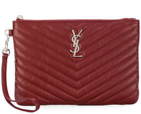 Saint Laurent quilted clutch - RED - STYLE