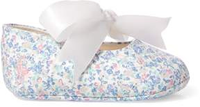 Ralph Lauren | Briley Floral Cotton Slipper | 0-3 months | Blue