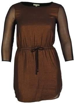Calvin Klein Women's Metallic A-Line Dress (S, Copper)