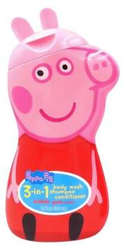 Disney Peppa Pig 3-in-1 Body Wash Shampoo Conditioner Novelty Bottle - 14oz